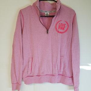 PINK Victoria's Secret 1/4 Zip Love Pink Pullover